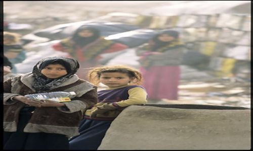 Zdjęcie IRAK / - / okolice Karbali / Dziewczyny