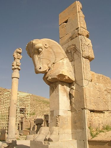 Zdj�cia: Prowincja Pars, Persepolis Pa�ac Stu kolumn, IRAN