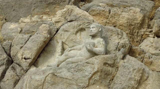 Zdjęcia: Bisotun, Rzeźba Herkulesa, IRAN