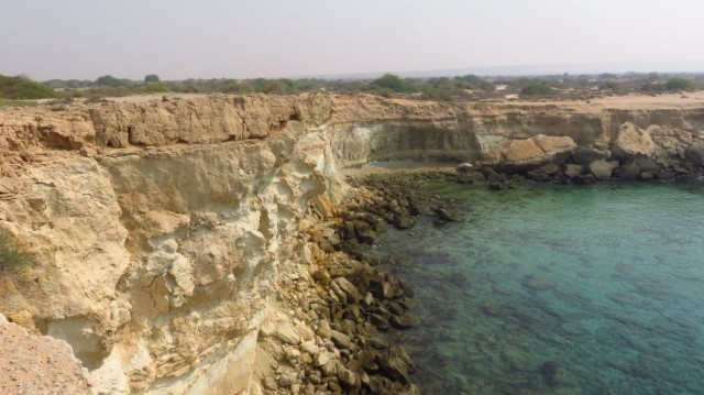 Zdjęcia: Zatoka Nayband należąca do Zatoki Perskiej, Skaliste wybrzeże nad Zatoką Perską, IRAN