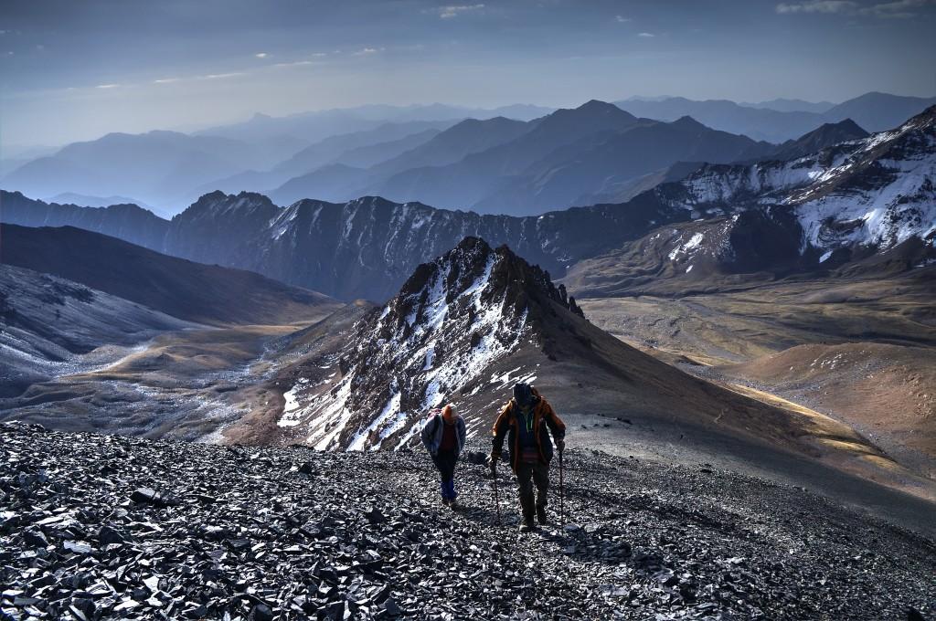 Zdjęcia: Alam Kuh 4850m, Góry Alborz, W drodze na szczyt, IRAN