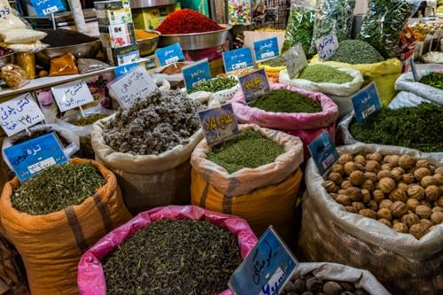 Zdjęcia: Bazar w Isfahan, Isfahan, Irańskie przyprawy, IRAN