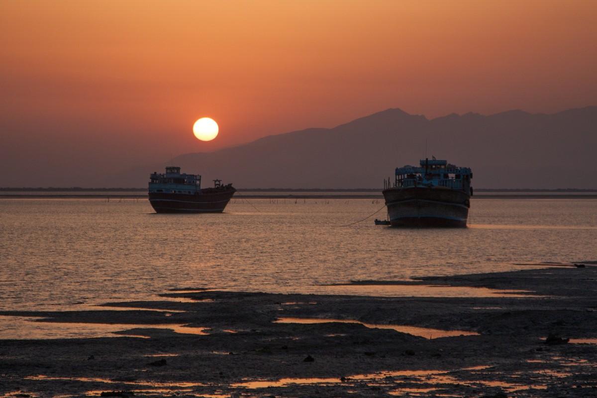 Zdjęcia: Laft, wyspa Qeshm, Zachód w Laft, IRAN
