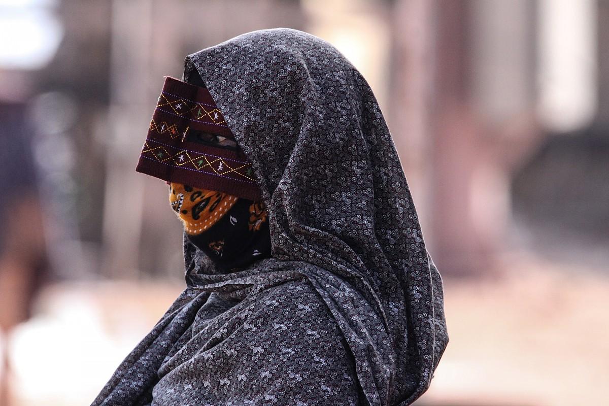 Zdjęcia: wyspa Hormoz, Hormoz, Maska kobiety z ludu Bandari, IRAN