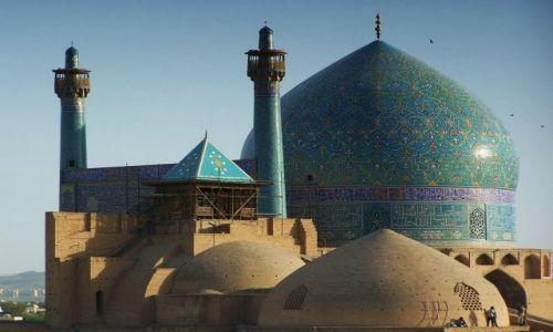 Zdjęcie IRAN / Wyżyna Irańska / Isfahan / Kopuły Meczetu Imama