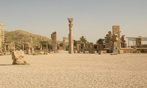 IRAN / brak / Persepolis / Pałac Stu Kolumn