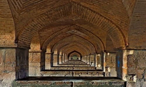 Zdjecie IRAN / Esfahan / Esfahan / pod mostem