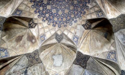 Zdjęcie IRAN / Kerman / Sklepienie wejścia do łaźni / Sztuka zdobienia