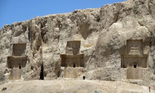 Zdjęcie IRAN / Shiraz / Naksze Rostam / Królewska nekropolia