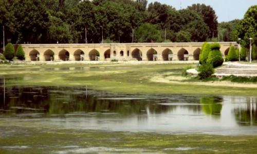 IRAN / Esfahan / Zabytkowy Most Chubi / Nadal w formie