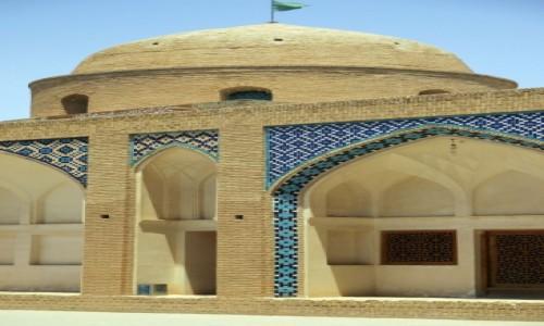 IRAN / Kashan / Meczet Aqa Bozorg / Z boku