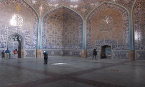 IRAN / Isfahan / Isfahan / Wnętrze Meczetu Lutf Allaha
