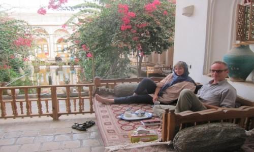 IRAN / Jazd / Jazd / Poranna herbatka w hotelu