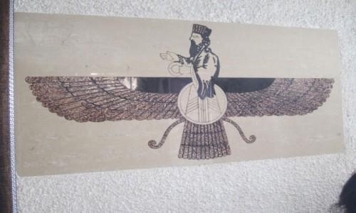 Zdjecie IRAN / Sziraz / Światynia Czak Czak / Fravashi - symbol Zoroastrian