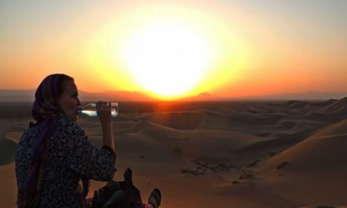 Zdjecie IRAN / Yazd / pustynia 150 km za Yazd / Wytchnienie