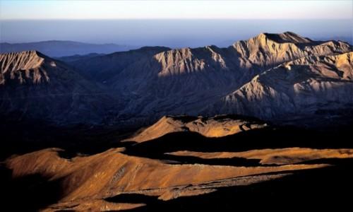 Zdjecie IRAN / Góry Elburs / Demawend / Świt na stoku Demawend