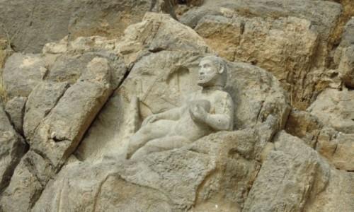 IRAN / - / Bisotun / Rzeźba Herkulesa