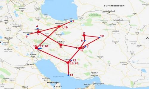 Zdjecie IRAN / - / Iran / Mapa trasy