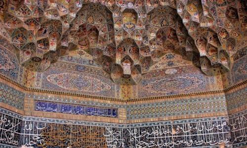 IRAN / Shiraz / Fragment meczetu / Uroda irańskich meczetów