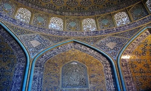 IRAN / Isfahan / Fragment meczetu / Uroda irańskich meczetów