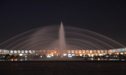 Zdjecie IRAN / Isfahan / Plac Imama / Isfahan nocą