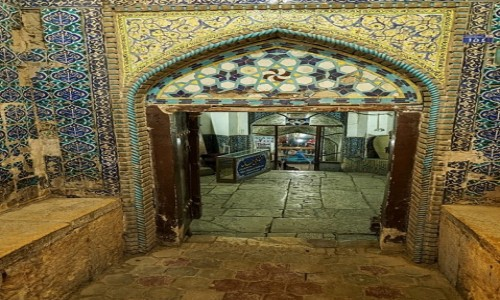 Zdjęcie IRAN / płn. Iran / Kāshān / Wejście do karawanseraju