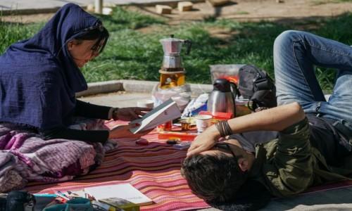 Zdjęcie IRAN / ostan Isfahan / Na'in  / Piknik w Na'in