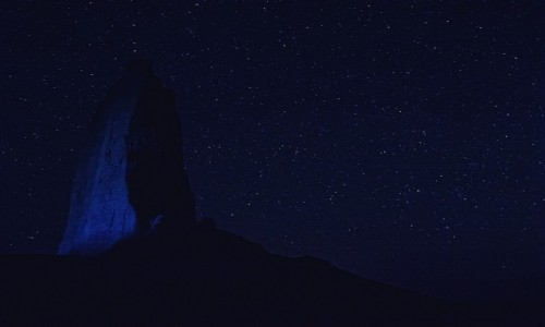 Zdjęcie IRAN / wschodni Iran / Dasht-e Lūt / Noc na pustyni....