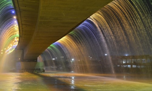 Zdjecie IRAN / Chuzestan / Ahvaz /  Tripyar Pol-e Haftom Waterfall of Ahvaz