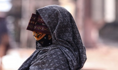 IRAN / Hormoz / wyspa Hormoz / Maska kobiety z ludu Bandari