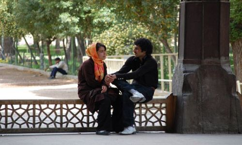 Zdjecie IRAN / Esfahan / park / brak