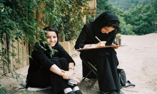 Zdjecie IRAN / Shiraz / park / Irańskie studentki