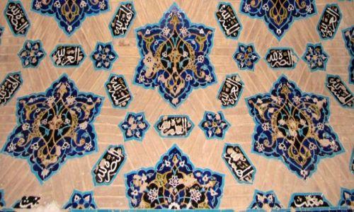 Zdjecie IRAN / Tabriz / Błękitny Meczet / mozaika
