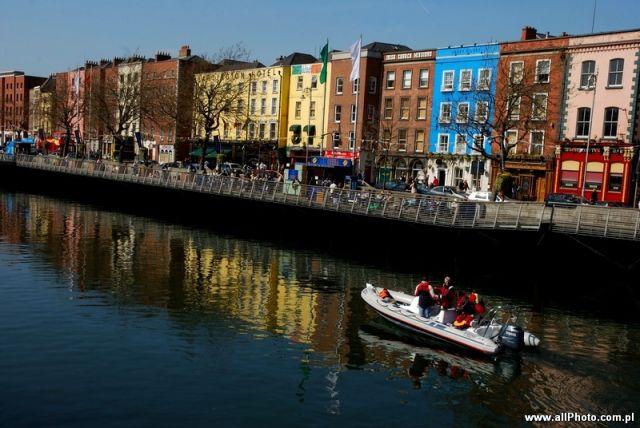 Zdjęcia: Dublin, The Liffey, IRLANDIA