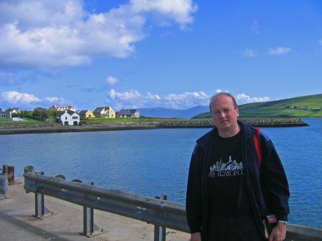 Zdjęcia: Miasteczko portowe Dingle, Płw.Dingle,Hrabstwo Kerry, autor zdjęć na redzie w Dingle, IRLANDIA