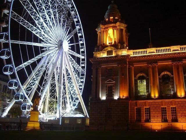 Zdjęcia: Belfast, Irlandia Pln., BELFAST EYE:)nocą, IRLANDIA