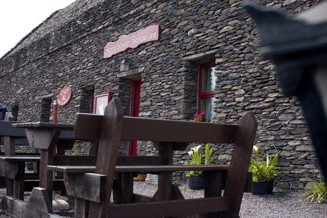 Zdjęcia: gdzieś w okolicach Inch, County Kerry, dom z kamienia, IRLANDIA