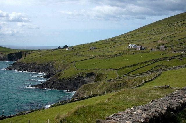 Zdjęcia: gdzieś w okolicach Inch, County Kerry, domki, IRLANDIA