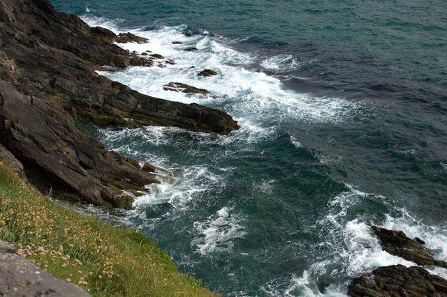 Zdj�cia: gdzie� w okolicach Inch, County Kerry, fale, IRLANDIA