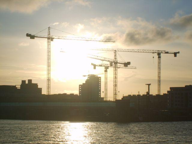 Zdjęcia: Dublin, Dublin, Zachód  słońca nad Liffey, IRLANDIA