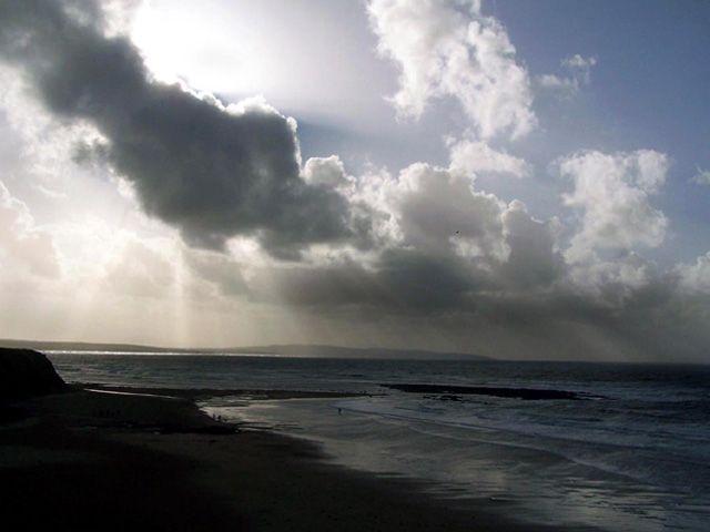 Zdj�cia: ballybunion, przed burz�, IRLANDIA
