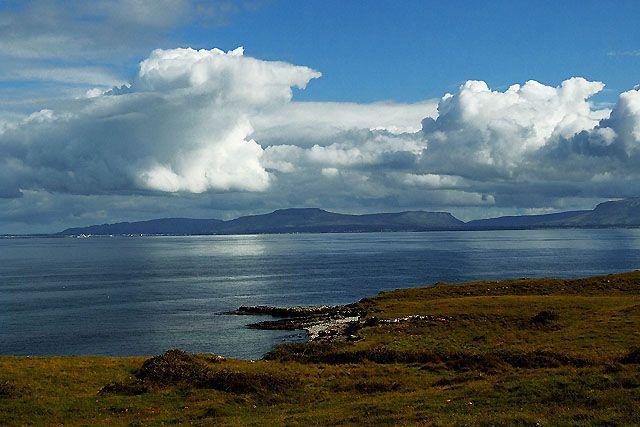 Zdjęcia: wybrzeże Mayo, chmury, IRLANDIA