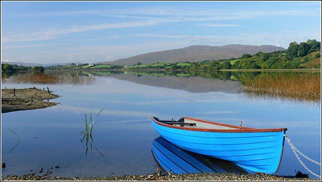 Zdjęcia: JEZIORO GARTAN, DONEGAL, LODZ, IRLANDIA