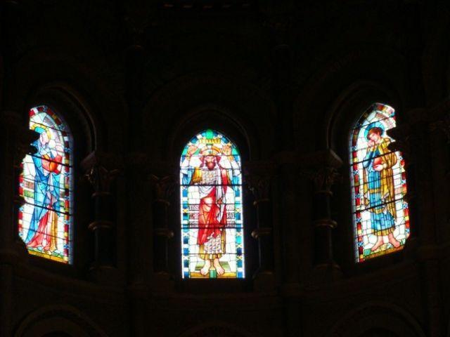 Zdjęcia: Cork, Katedra św. Fin Barry - witraże., IRLANDIA