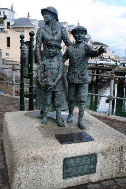 Zdjęcia: COBH, Rzeźba Annie Moore, IRLANDIA