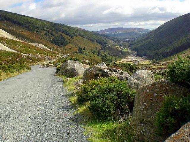 Zdjęcia: Góry Wicklow, Droga w górach, IRLANDIA