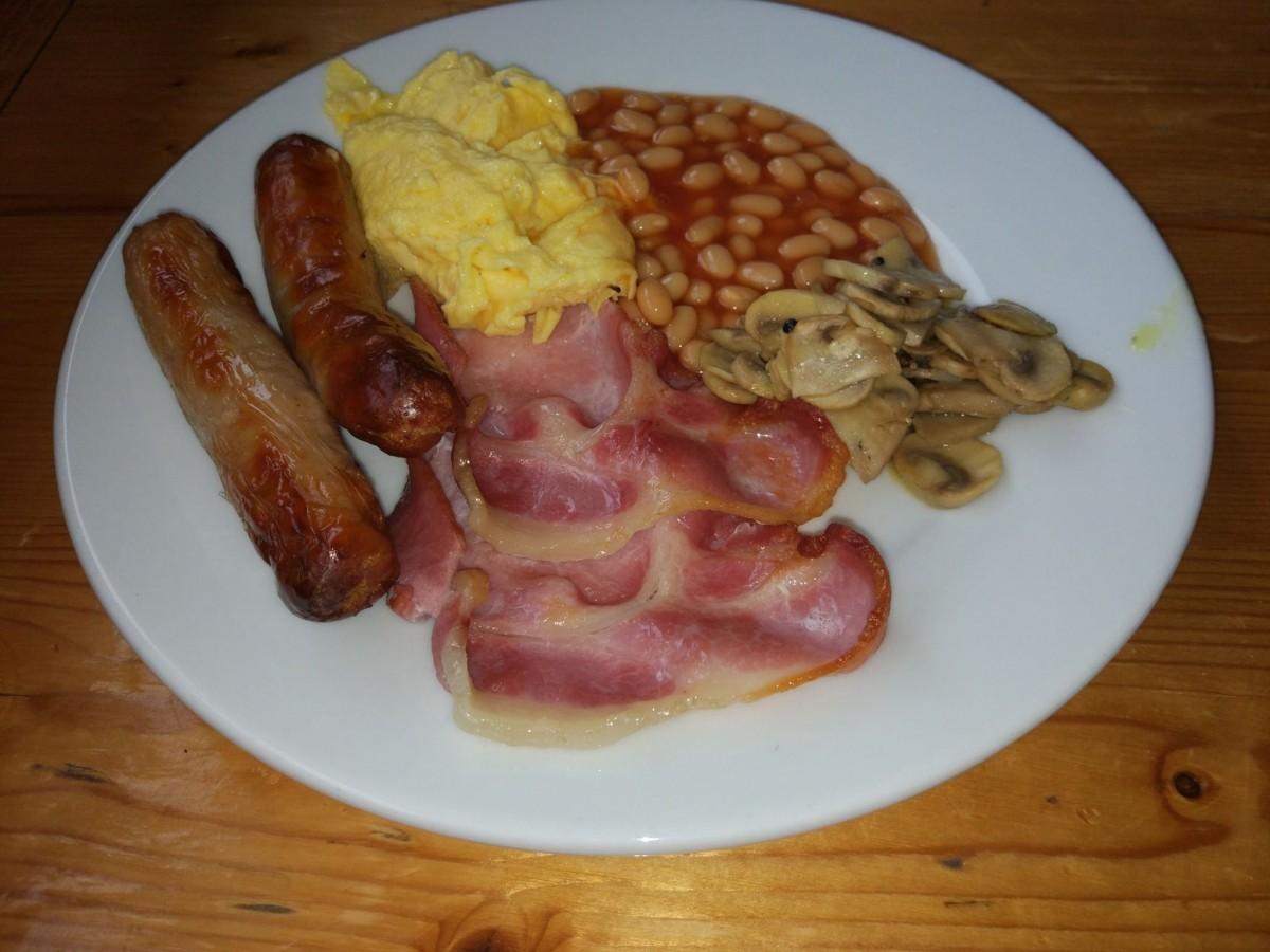 Zdjęcia: zachód Irlandii, Galway, Typowe śniadanko angielskie :-), IRLANDIA