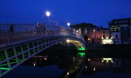 Zdjęcie IRLANDIA / - / Dublin / Dublin nocą 1