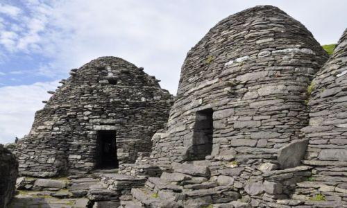 Zdjecie IRLANDIA / - / Great Skellig / Klasztor na wyspie Skellig Michael