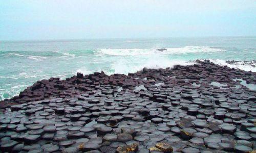 IRLANDIA / Północne wybrzeże / Wybrzeże Causeway-Grobla Olbrzyma / Króciutko na wyspę św. Patryka